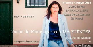 evento 7, Noche de monólogos con Isa Fuentes